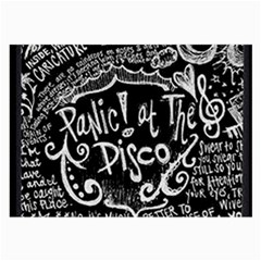Panic ! At The Disco Lyric Quotes Large Glasses Cloth (2 Side) by Onesevenart