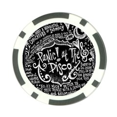 Panic ! At The Disco Lyric Quotes Poker Chip Card Guard by Onesevenart