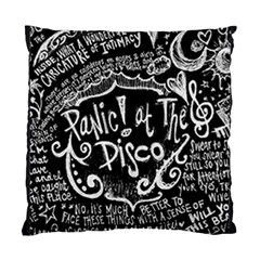 Panic ! At The Disco Lyric Quotes Standard Cushion Case (two Sides) by Onesevenart