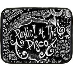 Panic ! At The Disco Lyric Quotes Fleece Blanket (mini) by Onesevenart