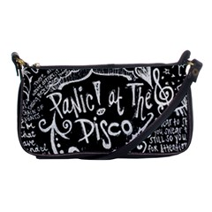 Panic ! At The Disco Lyric Quotes Shoulder Clutch Bags by Onesevenart