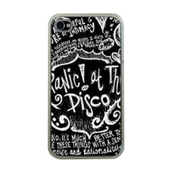Panic ! At The Disco Lyric Quotes Apple Iphone 4 Case (clear) by Onesevenart