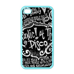 Panic ! At The Disco Lyric Quotes Apple Iphone 4 Case (color) by Onesevenart