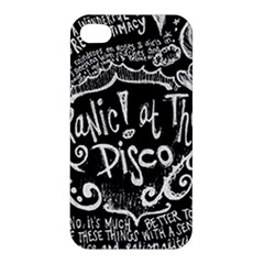 Panic ! At The Disco Lyric Quotes Apple Iphone 4/4s Premium Hardshell Case by Onesevenart