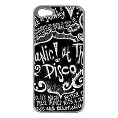 Panic ! At The Disco Lyric Quotes Apple Iphone 5 Case (silver) by Onesevenart