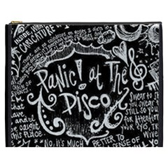 Panic ! At The Disco Lyric Quotes Cosmetic Bag (xxxl)  by Onesevenart