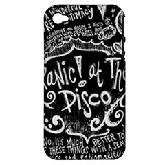 Panic ! At The Disco Lyric Quotes Apple Iphone 4/4s Hardshell Case (pc+silicone) by Onesevenart