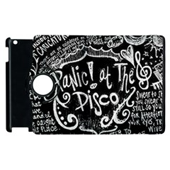 Panic ! At The Disco Lyric Quotes Apple Ipad 3/4 Flip 360 Case by Onesevenart