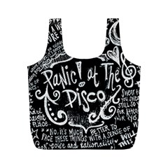 Panic ! At The Disco Lyric Quotes Full Print Recycle Bags (m)  by Onesevenart