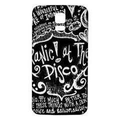 Panic ! At The Disco Lyric Quotes Samsung Galaxy S5 Back Case (white) by Onesevenart
