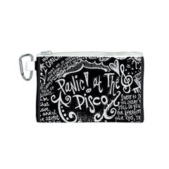 Panic ! At The Disco Lyric Quotes Canvas Cosmetic Bag (s) by Onesevenart