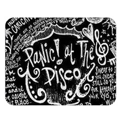 Panic ! At The Disco Lyric Quotes Double Sided Flano Blanket (large)  by Onesevenart