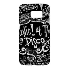 Panic ! At The Disco Lyric Quotes Samsung Galaxy S7 Hardshell Case  by Onesevenart