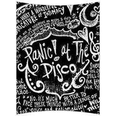 Panic ! At The Disco Lyric Quotes Back Support Cushion by Onesevenart