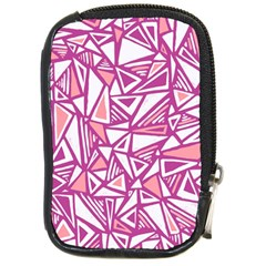 Conversational Triangles Pink White Compact Camera Cases by Mariart
