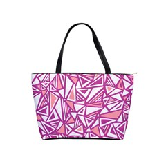 Conversational Triangles Pink White Shoulder Handbags by Mariart