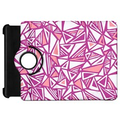 Conversational Triangles Pink White Kindle Fire Hd 7  by Mariart