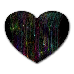 Brain Cell Dendrites Heart Mousepads by Mariart