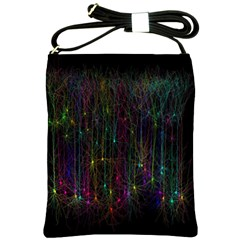 Brain Cell Dendrites Shoulder Sling Bags by Mariart