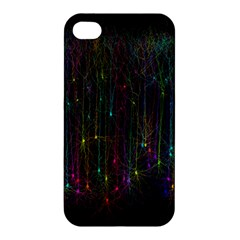 Brain Cell Dendrites Apple Iphone 4/4s Premium Hardshell Case by Mariart