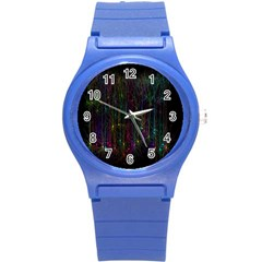 Brain Cell Dendrites Round Plastic Sport Watch (s) by Mariart