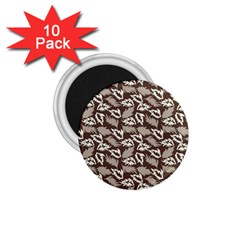 Dried Leaves Grey White Camuflage Summer 1 75  Magnets (10 Pack)  by Mariart
