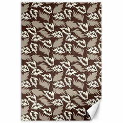 Dried Leaves Grey White Camuflage Summer Canvas 20  X 30   by Mariart