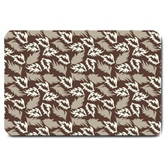 Dried Leaves Grey White Camuflage Summer Large Doormat  by Mariart