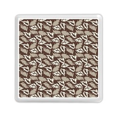 Dried Leaves Grey White Camuflage Summer Memory Card Reader (square)  by Mariart