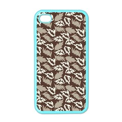 Dried Leaves Grey White Camuflage Summer Apple Iphone 4 Case (color) by Mariart