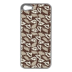 Dried Leaves Grey White Camuflage Summer Apple Iphone 5 Case (silver) by Mariart