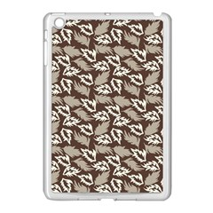 Dried Leaves Grey White Camuflage Summer Apple Ipad Mini Case (white) by Mariart