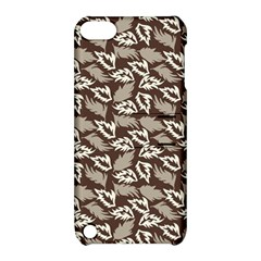Dried Leaves Grey White Camuflage Summer Apple Ipod Touch 5 Hardshell Case With Stand by Mariart