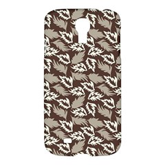 Dried Leaves Grey White Camuflage Summer Samsung Galaxy S4 I9500/i9505 Hardshell Case by Mariart