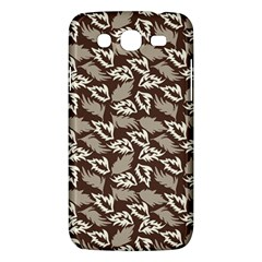 Dried Leaves Grey White Camuflage Summer Samsung Galaxy Mega 5 8 I9152 Hardshell Case  by Mariart