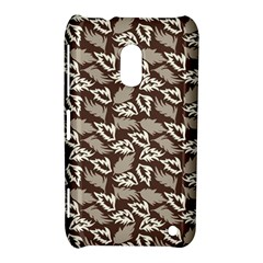Dried Leaves Grey White Camuflage Summer Nokia Lumia 620 by Mariart