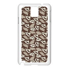 Dried Leaves Grey White Camuflage Summer Samsung Galaxy Note 3 N9005 Case (white) by Mariart