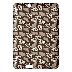 Dried Leaves Grey White Camuflage Summer Kindle Fire Hdx Hardshell Case by Mariart