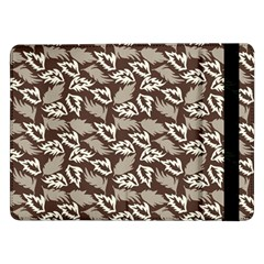Dried Leaves Grey White Camuflage Summer Samsung Galaxy Tab Pro 12 2  Flip Case by Mariart