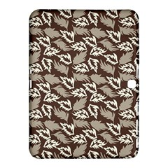 Dried Leaves Grey White Camuflage Summer Samsung Galaxy Tab 4 (10 1 ) Hardshell Case  by Mariart