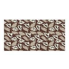 Dried Leaves Grey White Camuflage Summer Satin Wrap by Mariart