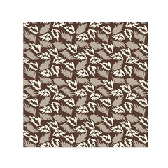 Dried Leaves Grey White Camuflage Summer Small Satin Scarf (square) by Mariart