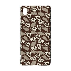 Dried Leaves Grey White Camuflage Summer Sony Xperia Z3+ by Mariart