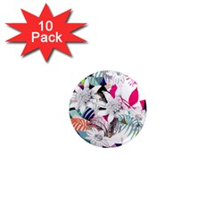 Flower Graphic Pattern Floral 1  Mini Magnet (10 Pack)  by Mariart