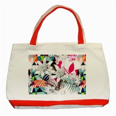 Flower Graphic Pattern Floral Classic Tote Bag (red) by Mariart