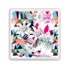 Flower Graphic Pattern Floral Memory Card Reader (square)  by Mariart