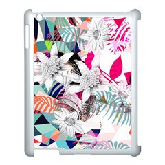 Flower Graphic Pattern Floral Apple Ipad 3/4 Case (white) by Mariart