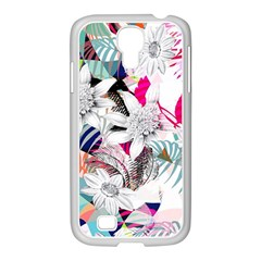 Flower Graphic Pattern Floral Samsung Galaxy S4 I9500/ I9505 Case (white) by Mariart