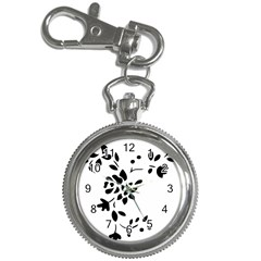 Flower Rose Black Sexy Key Chain Watches by Mariart