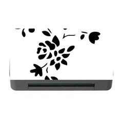 Flower Rose Black Sexy Memory Card Reader With Cf by Mariart